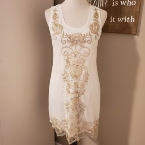 NWOT Simply Couture Beaded Tank Dress